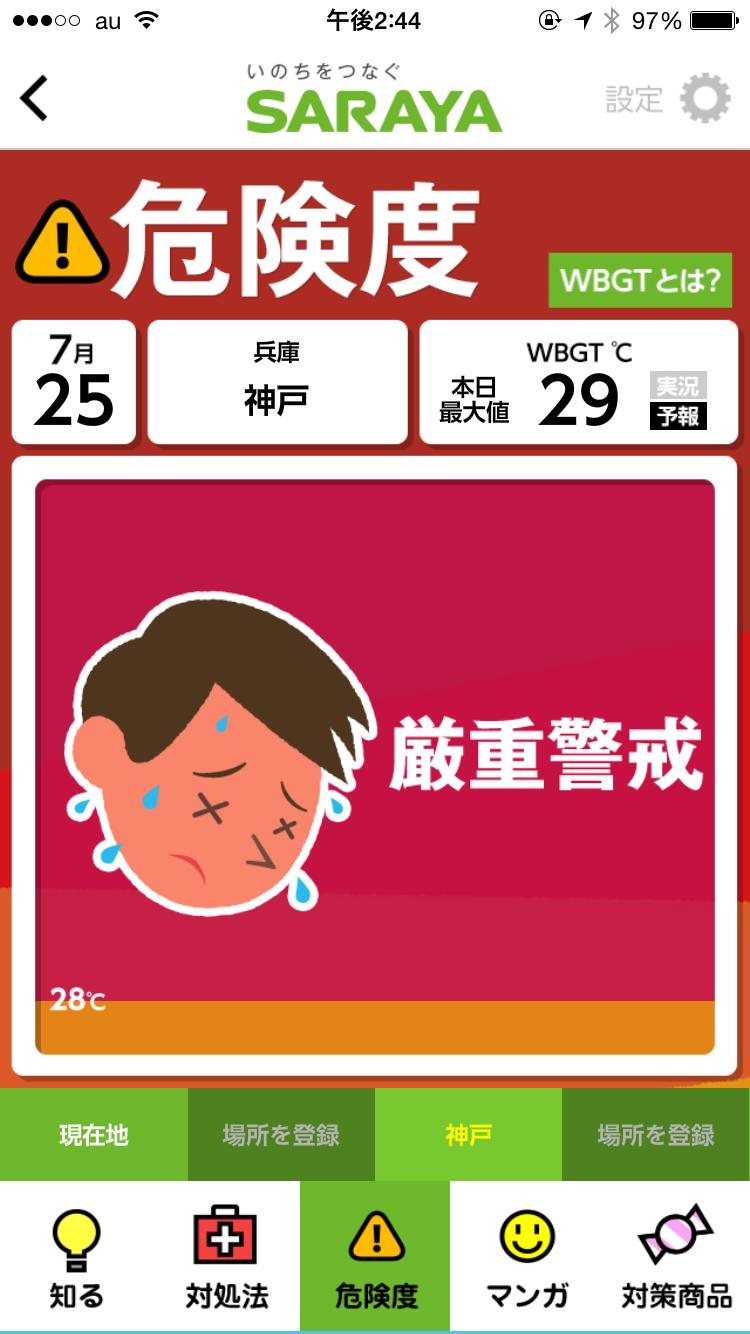 熱中症アラート アプリ